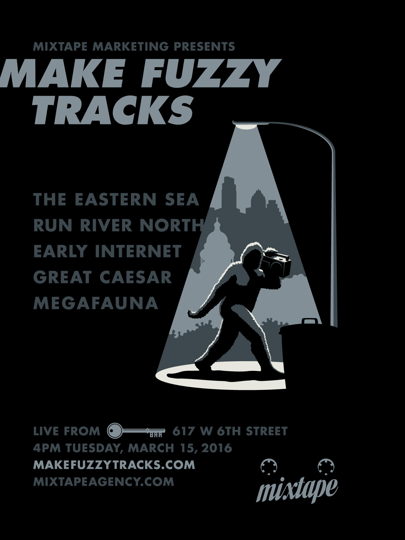 2016 Make Fuzzy Tracks Poster & Lineup